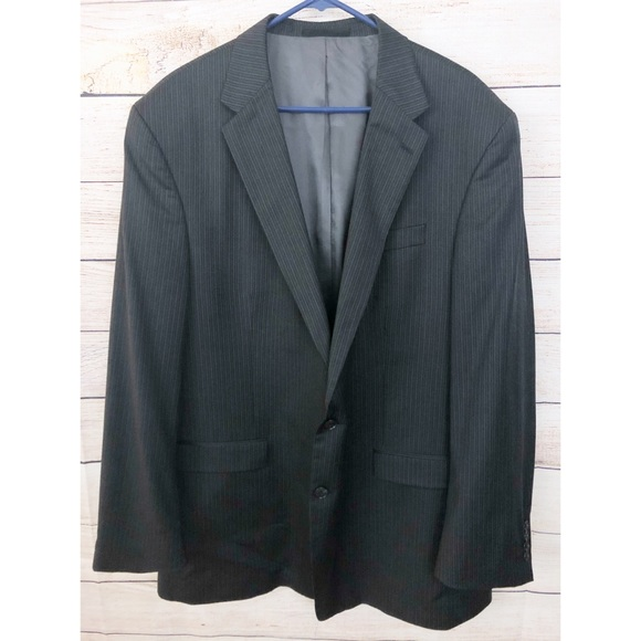 Kenneth Cole Other - Kenneth Cole 50L Black Gray Wool Sports Coat